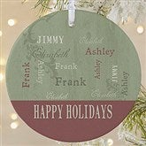 1-Sided Our Loving Family Personalized Ornament- Large - 13843-1L
