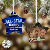 2-Sided All-Star Personalized Ornament - 13854-2