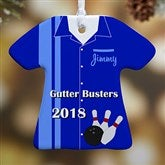 1-Sided Personalized Bowling T-Shirt Ornament - 13861-1
