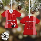 2-Sided Personalized Bowling T-Shirt Ornament - 13861-2