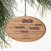 Special Uncle Personalized Ornament - 13877