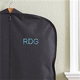 Embroidered Black Garment Bag- Block Monogram - 13896-B