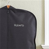 Embroidered Black Garment Bag- Name - 13896-N