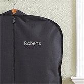 Embroidered Black Garment Bag- Name - 13896-N