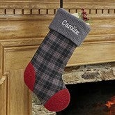 Northwoods Plaid Embroidered Stocking Collection- Plaid - 13902-P