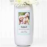 Chevron Class Personalized Photo Vase - 13906