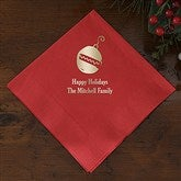 Happy Holidays Personalized Napkins - Beverage Size - 13909D-B