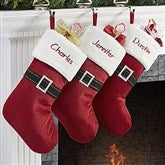 Ho! Ho! Ho! Santa Belt Embroidered Stocking - 13924