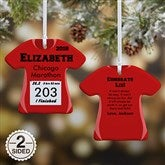 2-Sided Race Day Personalized T-Shirt Ornament - 13929-2
