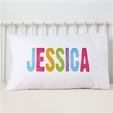 All Mine! Brights Personalized Pillowcase - 13933
