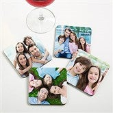 Picture Perfect Personalized Bar Photo Coasters - 13942-1