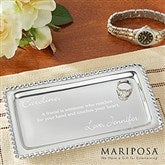 Mariposa® String of Pearls Personalized Jewelry Tray - 13943