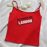 Sealed With A Kiss Personalized Ladies Red Camisole - 13965C