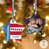 2-Sided All American Military Personalized Photo Ornament - 13979-2