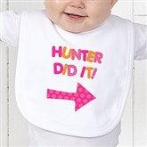 They Did It! Personalized Infant Bib - 13980-B