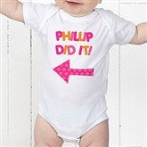 They Did It! Personalized Baby Bodysuit - 13980-CBB