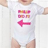 They Did It! Personalized Baby Bodysuit - 13980-CBB