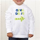 They Did It! Personalized Colored Toddler Hooded Sweatshirt - 13980-CTHS