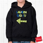 They Did It! Personalized Youth Hooded Sweatshirt - 13980-YHS