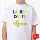 They Did It! Personalized Hanes® Youth T-Shirt - 13980-YCT