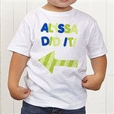 They Did It! Personalized Toddler T-Shirt - 13980-TT