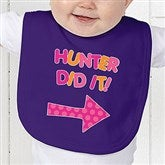 They Did It! Personalized Infant Bib - 13980-B
