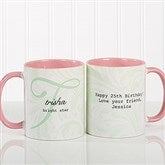Name Meaning Personalized Coffee Mug 11 oz.- Pink - 13983-P