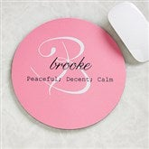 Name Meaning Personalized Mouse Pad - 13984