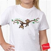 Two Little Monkeys Personalized Hanes® Youth T-Shirt - 14002-YCT