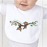 Two Little Monkeys Personalized Infant Bib - 14002-B