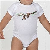 Two Little Monkeys Personalized Baby Bodysuit - 14002-CBB