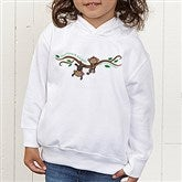 Two Little Monkeys Personalized Colored Toddler Hooded Sweatshirt - 14002-CTHS