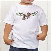 Two Little Monkeys Personalized Toddler T-Shirt - 14002-TT