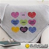 SmileyWorld® Loving Hearts Personalized Sweatshirt Blanket - 14009