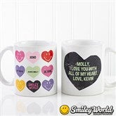 SmileyWorld® Loving Hearts Personalized Coffee Mug Romantic- 11 oz. - 14013-S