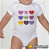 SmileyBaby® Loving Hearts Personalized Baby Bodysuit - 14016-BB