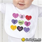 SmileyBaby® Loving Hearts Personalized Infant Bib - 14016-B