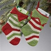 Seasonal Stripes Mini Knit Stocking Set of 2 - 14017