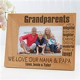Wonderful Grandparents Personalized Photo Frame- 4 x 6 - 14021-S