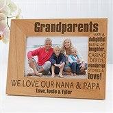Wonderful Grandparents Personalized Photo Frame- 4 x 6 - 14021-S