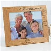 Wonderful Grandparents Personalized Photo Frame- 8 x 10 - 14021-L