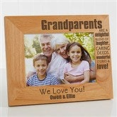 Wonderful Grandparents Personalized Photo Frame- 5 x 7 - 14021-M