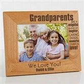 Wonderful Grandparents Personalized Photo Frame- 5 x 7 - 14021-M