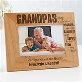 Wonderful Grandpa Personalized Photo Frame- 4 x 6 - 14026-S