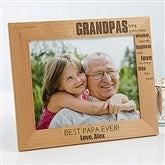 Wonderful Grandpa Personalized Photo Frame- 8 x 10 - 14026-L