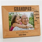 Wonderful Grandpa Personalized Photo Frame- 5 x 7 - 14026-M