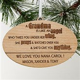 Wonderful Grandma Personalized Ornament - 14028