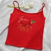 Naughty or Nice Personalized Red Camisole - 14033C