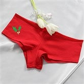 Naughty or Nice Ladies Red Shorties - 14033S