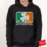 Irish Drinking League Personalized Hooded Sweatshirt - Adult - 14051-A